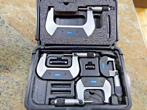 Fowler 72 229 214 0 4 4 Piece Outside Micrometer Set