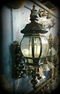 Exterior Cast Iron Beveled Glass Sconce Story Book House Salvage 29 Tall
