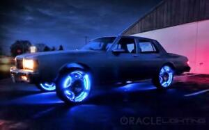 Oracle Lighting 4215 002 Blue Led Wheel Rings On Off Switch New Free Shipping