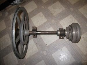 Atlas Craftsman 10 Lathe Counter Shaft 4 Step Spindle Pulley