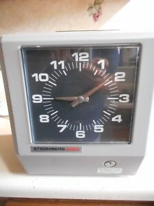 Stromberg 6000 Time Recorder Model 68395 2 6a 120v For Parts Or Repair