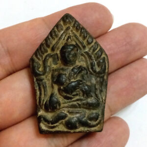 Old Phra Khun Paen Hold Chicken Lp Suang Wat Phu Tabang Thai Buddha Amulet Lucky