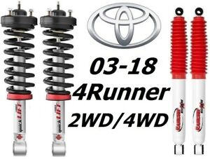 Rancho Quicklift Struts Rs5000x Rear Shocks For 03 18 Toyota 4runner 2wd 4wd