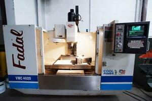 1998 Fadal 4 axis Vmc 4020ht Cnc Vertical Machining Center 10k Cat40 4th Axis