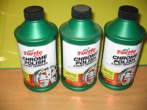 Turtle Wax Chrome Polish Rust Remover 12 Fl Oz Lot Of 3 New