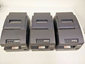Lot Of 3 Epson Tm h6000ii iii Pos Receipt Printers Model M147c g heavy Duty