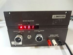 Lambda Regulated Power Supply Output 0 60v Model Lq 533