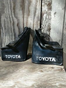 Vintage Toyota Pair 2 Splash Guards Mud Flaps Celiac Corolla Camry Early 80s
