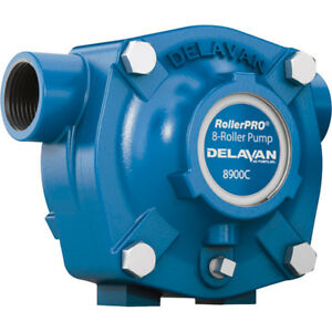 Delavan Cast Iron 8 roller Pump 24 Gpm 300 Psi 1 000 Rpm Model 8900c