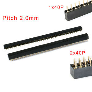 1x40p 2x40p Single double Row Pin Female Header Pitch 2 0mm Pcb Socket Connector