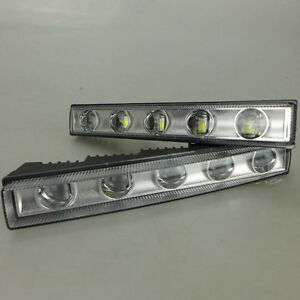 A Pair White Drl Daytime Running Light Led Lamp Fit For Mercedes G class 2013 15