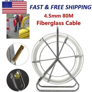 4 5mm Fiber Glass Wire Cable Snake Running Rod Duct Rodder Pull Electrician 80m