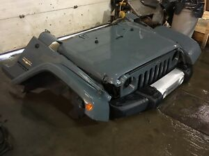 Jeep Wrangler 2015 Front End Front Clip Grey Fits 2013 2014 2015 2016