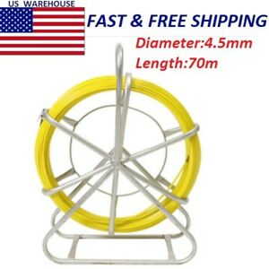 4 5mm Fiber Glass Wire Cable Snake Running Rod Duct Rodder Pull Electrician 70m