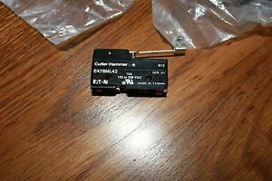 Set Of 6 Cutler Hammer Micro Limit Switch e47bml42 extended Roller Lever