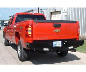 Ranch Hand Sport Series Width Black Rear Hd Bumper For 07 10 Silverado 2500hd