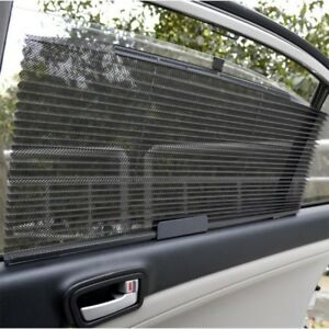 Retractable Car Roller Blind Sun Shade Side Rear Window Mesh Sun Shading Curtain