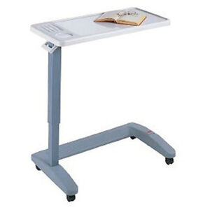 Overbed Table Adjustable With Large Surface Breakfast Reading Writing Desk New