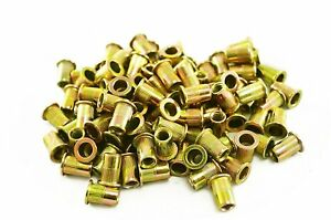 Astro Pneumatic Tool Rn6m M6 6mm Steel Rivet Nuts 100 Piece