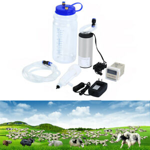 2l Portable Electric Milking Machine With Pulse Controller For Goats Sheep