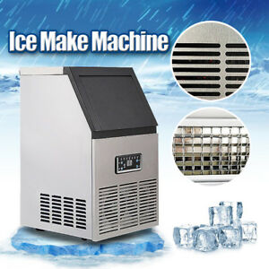 2 0 Auto Commercial Ice Maker Making Cube Machine Stainless Steel Bar 110lb 230w