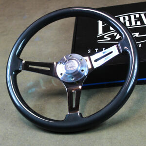 15 Grey Chrome Steering Wheel 3 Spoke