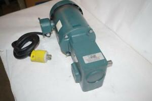 Reliance Electric 1 2hp Ac Motor Speed Reducer P56h5069mql Dodge 20 1 Ratio