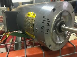 Baldor Vswdm3554 Electric Motor 1 5 Hp 208 230 460 Volts 1725 Rpm 3 Phase