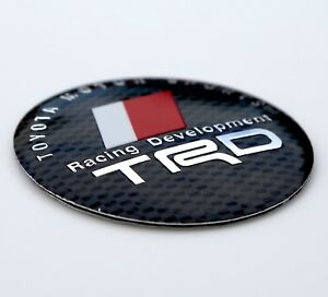 Dome Shape 3d Metal Trd Toyota Racing Development Sticker Decal Emblem 2 2