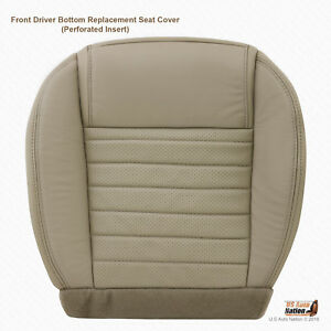 2005 2009 Ford Mustang Front Driver Bottom Perforated Leather Seat Cover In Tan
