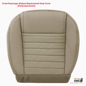 2005 2009 Ford Mustang Passenger Side Bottom Tan Perforated Leather Seat Cover