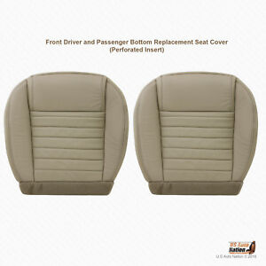 2005 2009 Ford Mustang Driver Passenger Bottom Leather Seat Cover Color Tan