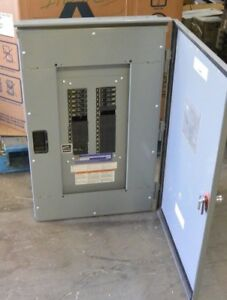 Square D Nq 100 Amp 208y 120 Volt 3 Phase Qob Breaker Panel 3r Outdoor Used