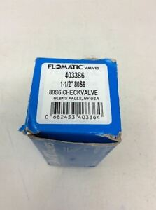 Flomatic 4033s6 Stainless Steel Check Valve 1 1 2 80s6 New In Box