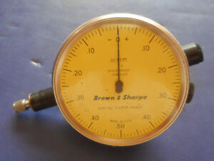 Brown Sharpe 599 8261 412 Dial Indicator Jeweled And Shock Proof