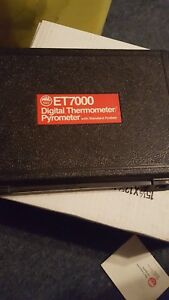 Mac Et7000 Digital Thermometer pyrometer With Standard Probes