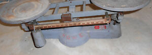 Antique Howe Scale 16lb Howe Scale Company Rutland Vt With Weights
