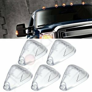 5 Clear Cab Roof Running Marker Light Cover Lens For Ford F 250 F 350 Super Duty