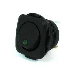 3pk Led Illuminated Round Rocker Switch Square Face Plate 16a on off spst green