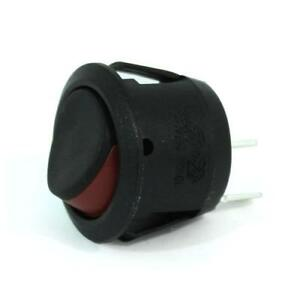 5pk Snap in Round Rocker Switch 16a On off Spst Red Marking