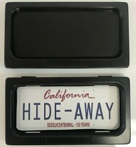 Hide away Shutter Cover Up Stealth License Plate Frame Single Plate Kit