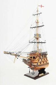 Hms Victory Admiral Nelson Tall Ship Bow Section 28 5 Wood Model Boat Assembled