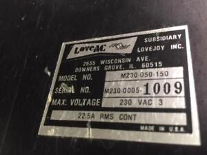 Lovejoy M230 050 150 Ac Motor Speed Control