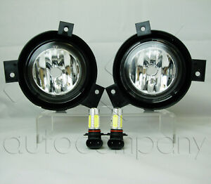 For 2001 2003 Ford Ranger Replacement Fog Lights Pair W Cob Led Bulbs Clear