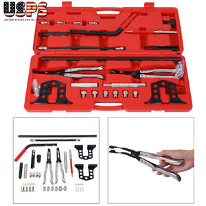 Cylinder Head Service Tool Kit For Valve Springs Stem Seal Guides Bushes Set
