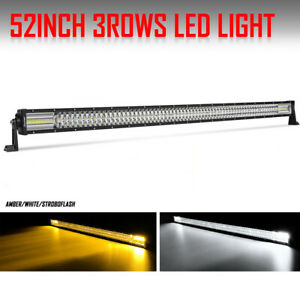 52inch 4200w Cree 10d Quad Row Led Light Bar 8 Modes Spot Flood Combo Vs 50 54