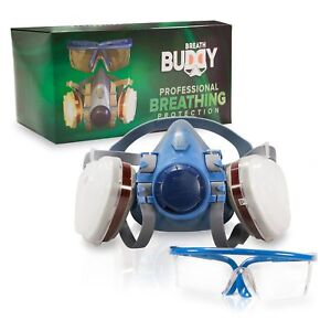 Breath Buddy Respirator Mask plus Safety Goggles Reusable Professional