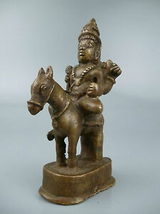 Old Or Antique Indian Bronze From An Estate Hindu God Shiva Parvati Br