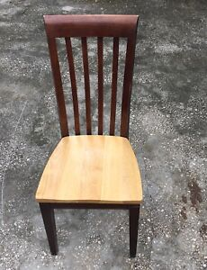 Lot Of 20 Restaurant Chair Elongated Back Solid Wood Commercial Quality