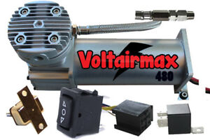 Air Compressor For Air Bag Suspension System Voltair Max 480 Pewter 200psi Max
